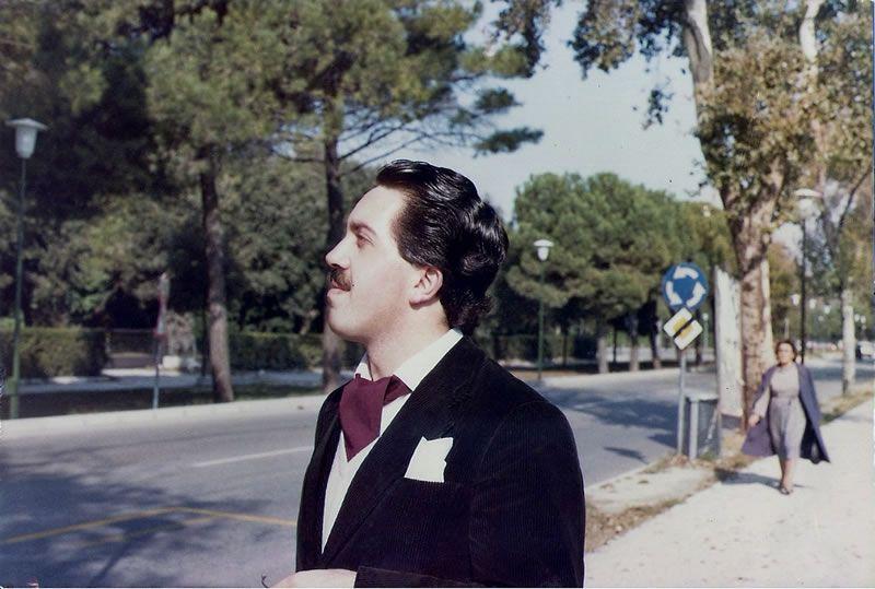 1982. Paseando polo Lido, en Venecia
