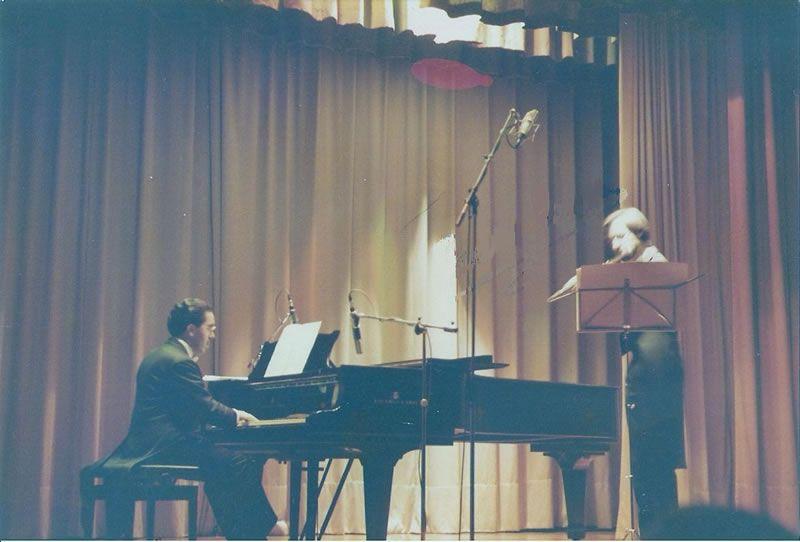 1985. En concerto co compositor Paulino Pereiro