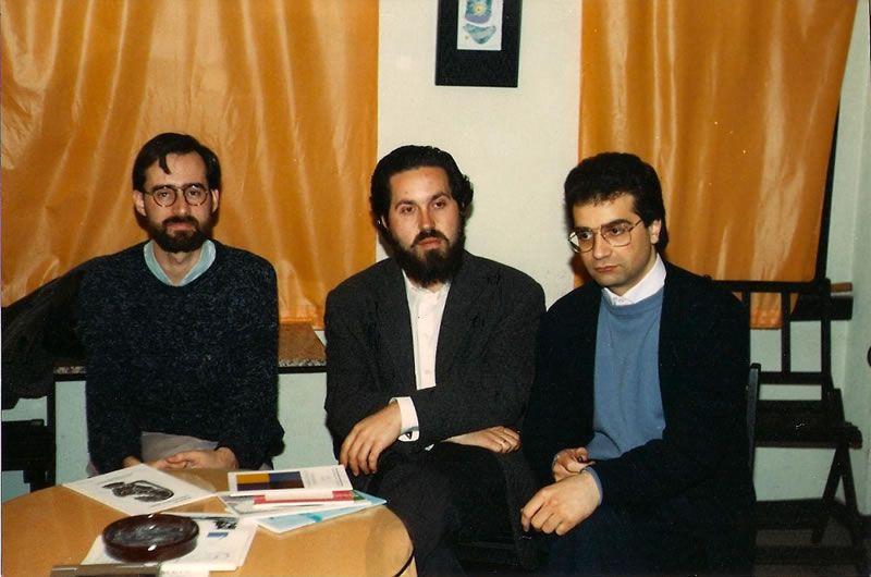 1989. Cos compositores Paulino Pereiro e Juan Vara.