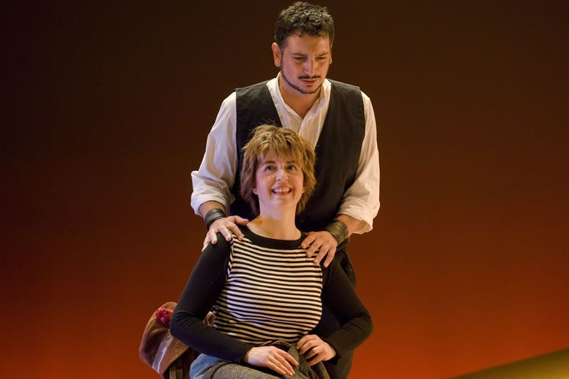 2008. Carmen Durán e Javier Franco en O Arame (Fotografía de Miguel Angel Fernández)
