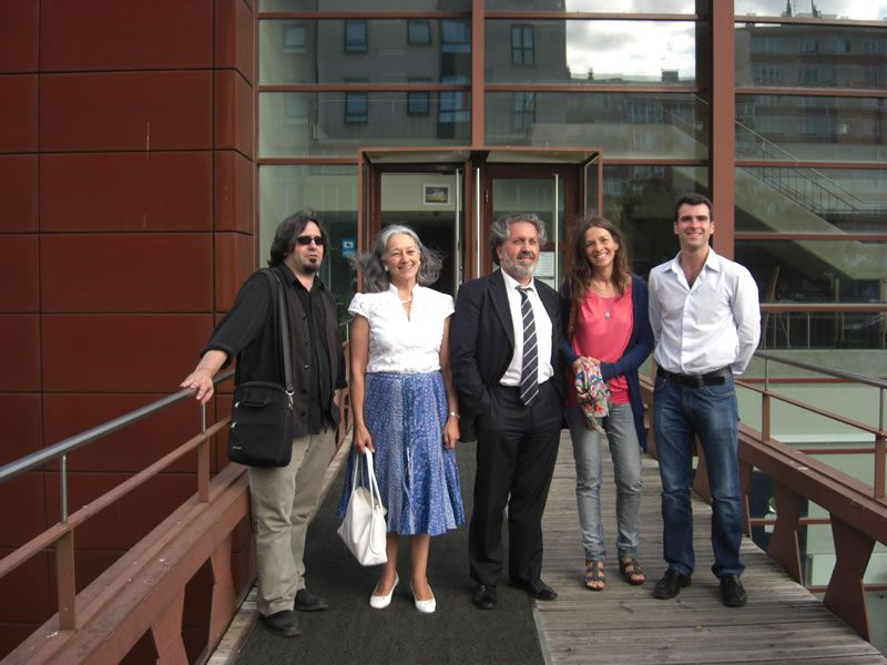 2010. Con compositores da AGC (Julián Rodríguez, Margarita Viso, Gloria Rodríguez Gil e Iván Rodríguez Armán)