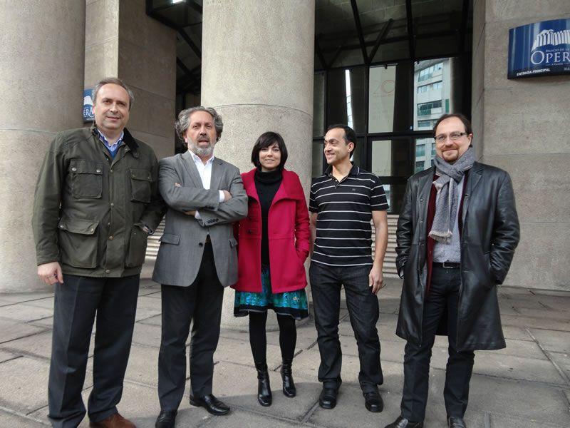 2012. Con compositores da AGC: María Mendoza, Miguel Brotóns, Juan Pérez Berná e Xoán Antón Vázquez Casas