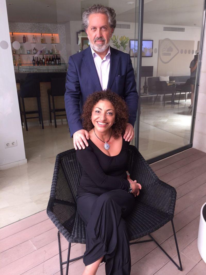 2015. Con Cristina Gallardo-Domâs en Mallorca, despois da estrea das miñas cancións