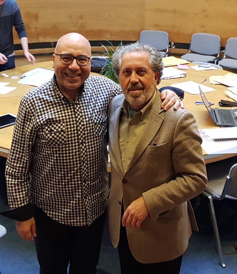 2017. Co compositor Ferrer Ferrán formando parte dun xurado de composición