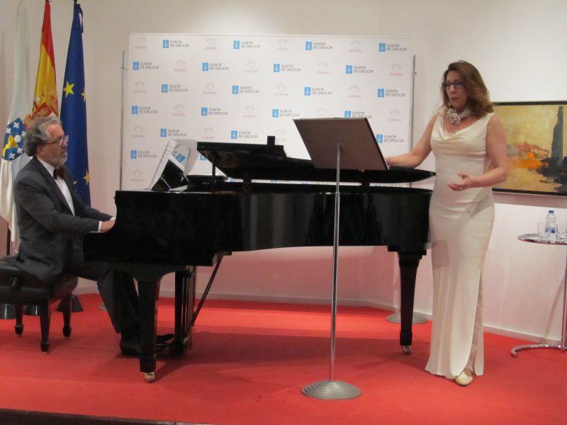 2017. En concerto con María Rodríguez na Casa de Galicia de Madrid, Día das letras galegas