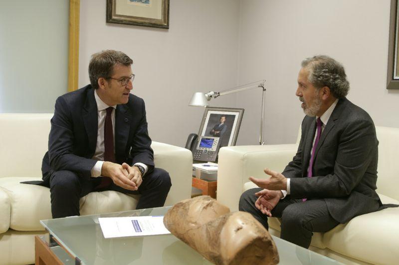2018. Co Presidente Núñez Feijoo na recepción polo Premio de Composición Reina Sofía