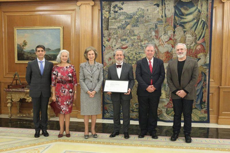 2018. Recollendo o Premio Reina Sofía no Pazo da Zarzuela