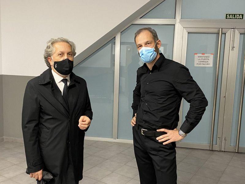 2020. Con Dima Slobodeniouk antes da estrea de Dona nobis pacem
