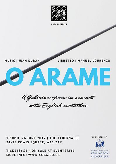A ópera de J. Durán O ARAME en Londres
