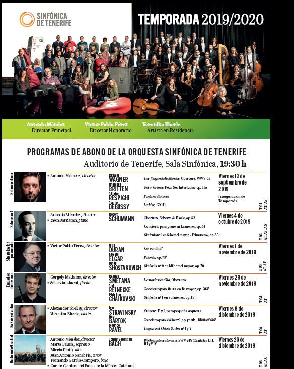 A Orquestra Sinfónica de Tenerife interpreta música de J. Durán