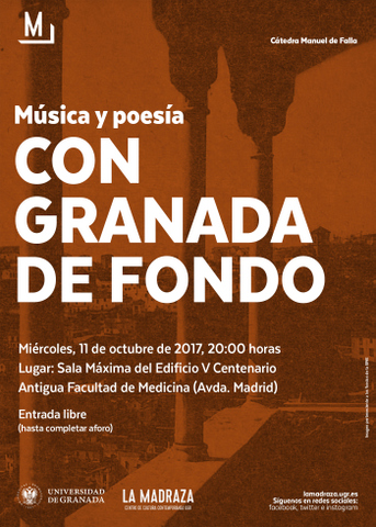 Cancións de J. Durán na Cátedra Manuel de Falla de Granada