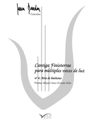 Cantiga Finisterrae para múltiples voces de luz -aria de barítono- (partitura)