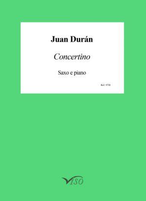 Concertino para saxofón y piano (partitura y partes)
