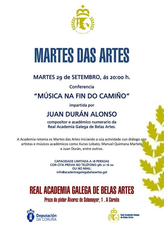 Conferencia de J. Durán na Real Academia Galega de Belas Artes