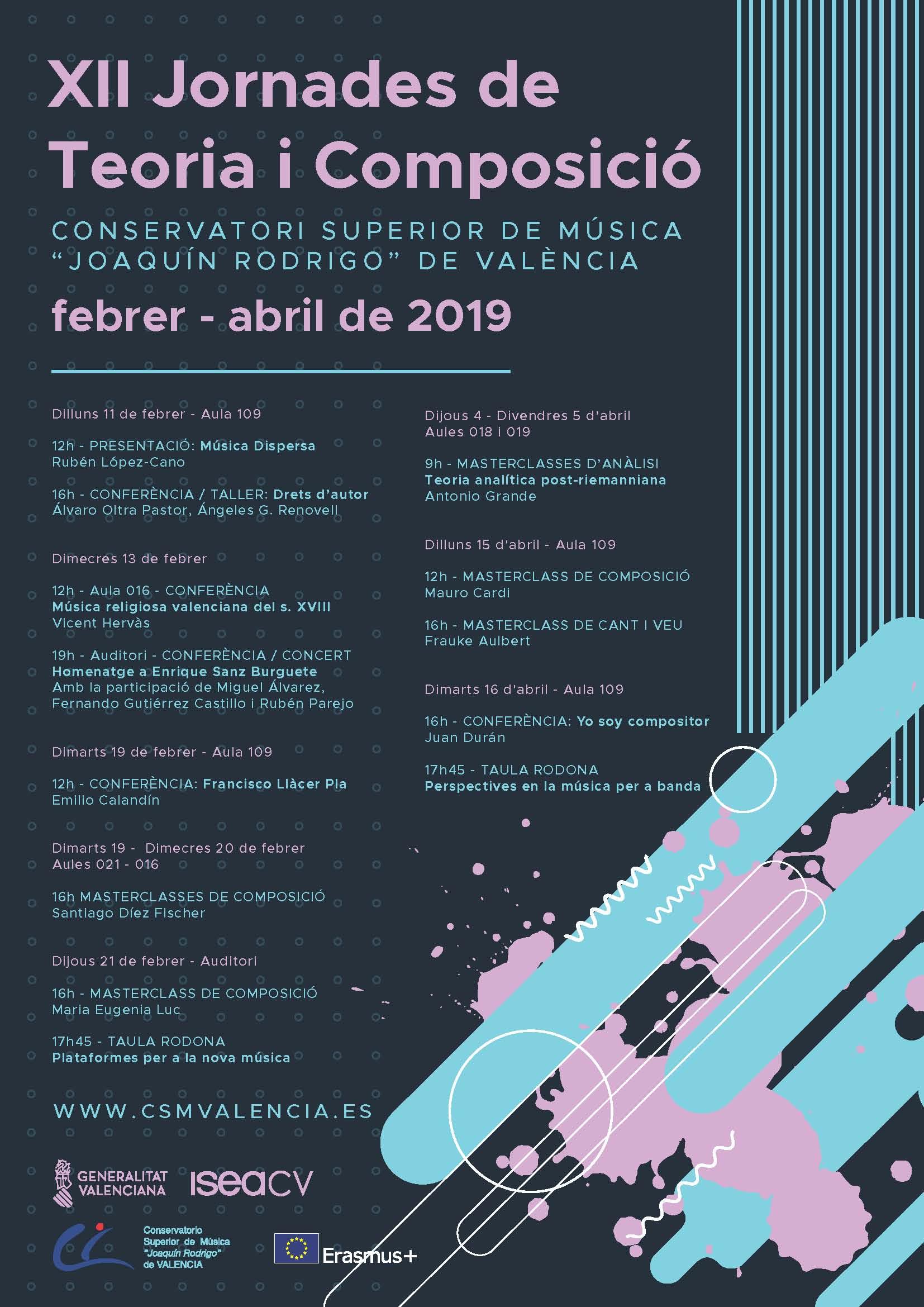 Conferencia de J. Durán no Conservatorio Superior de Música de Valencia