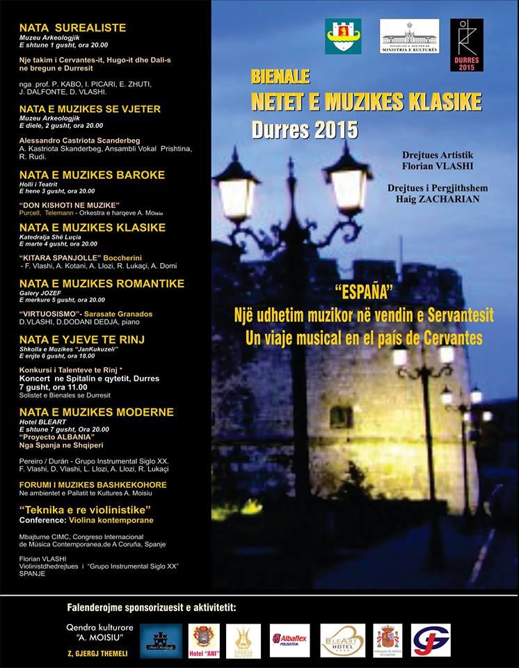 Divertimento y Sonatina de Juan Durán en Albania con el Grupo Instrumental siglo XX