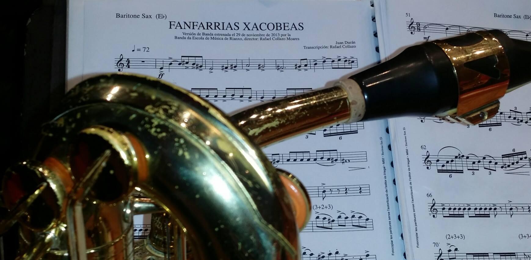 Gravación en CD de FANFARRIAS XACOBEAS de J. Durán, transcripción de R. Collazo.