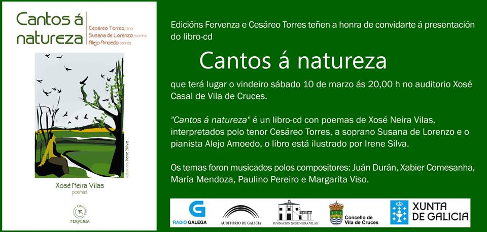 "J. Durán no CD ""Cantos da Natureza"""