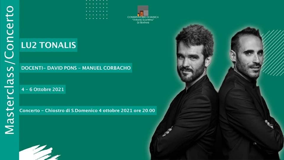 """Música de J. Durán en el Conservatorio di Musica di Stato """"Antonio Scontrino"""" con el Dúo Lu2 Tonalis"""