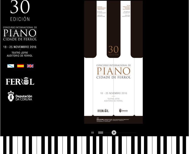 Música de J. Durán no Concurso de Piano de Ferrol, interpretada por Brais González