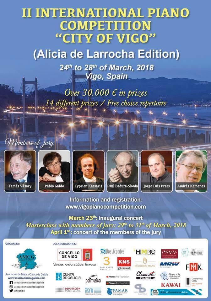 Música de J. Durán no II Concurso Internacional de piano de Vigo