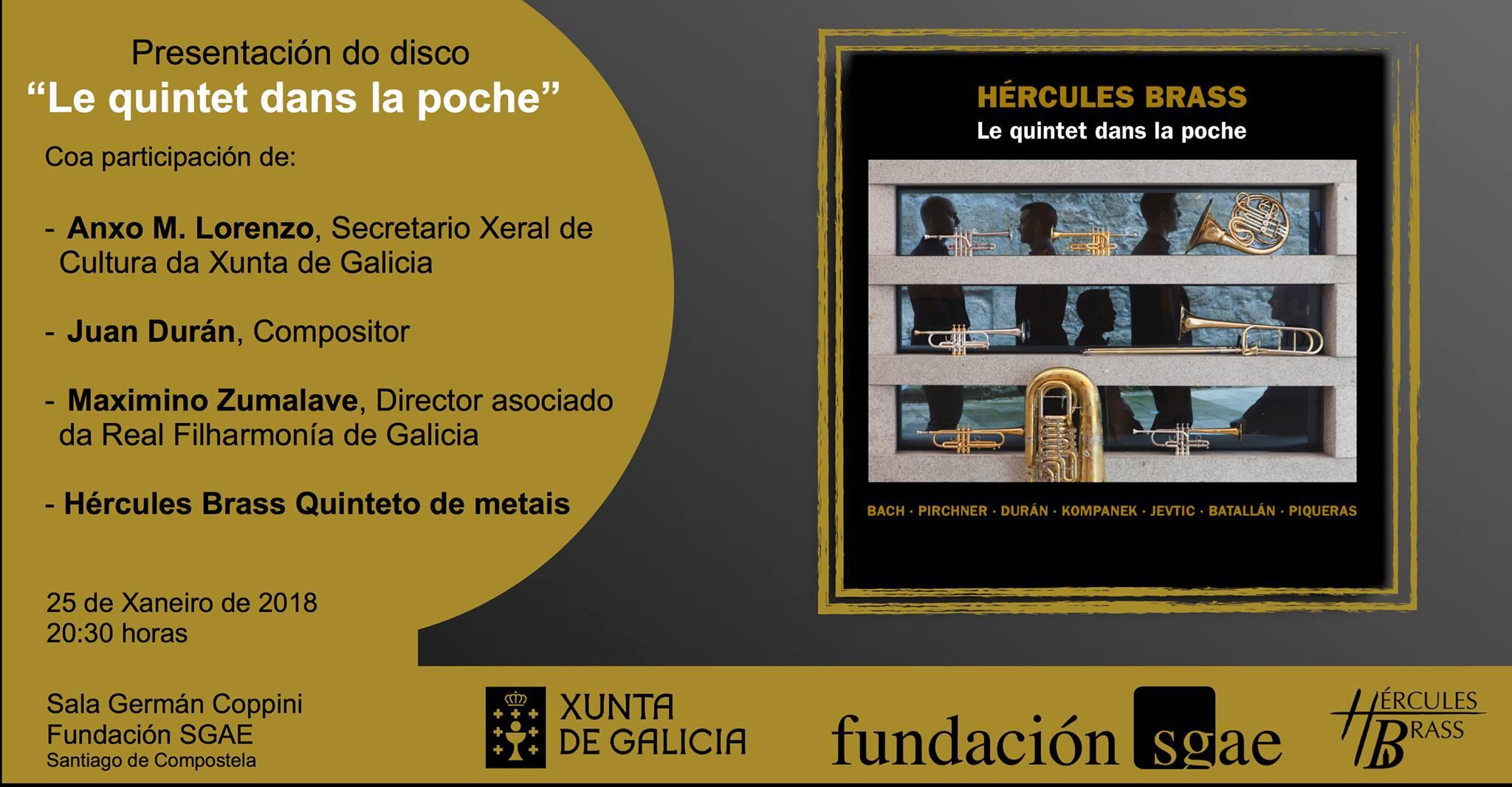 Música de J. Durán no primeiro CD de Hércules Brass