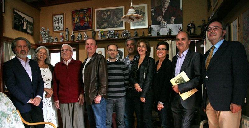 2015. Na Fundación Neira Vilas, co escritor, con Alejo Amoedo, Xabier Comesaña e Margarita Viso entre outros.