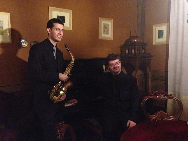 Suite para saxofón e piano de J. Durán polo Dúo Brillance no Conservatorio de Lugo