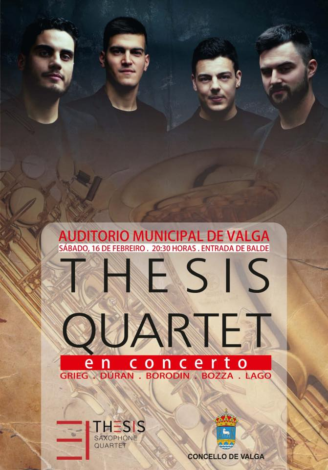 Thesis Quartet interpreta Suite brave da paisaxe de J. Durán