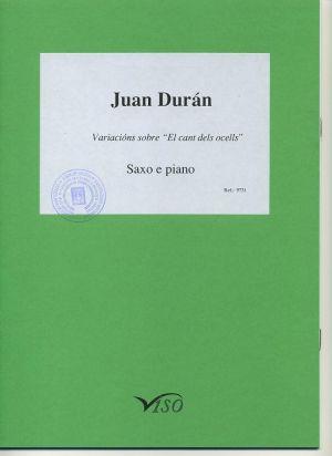 """Variaciones sobre """"El cant dels ocells"""" (partitura y partes)"""